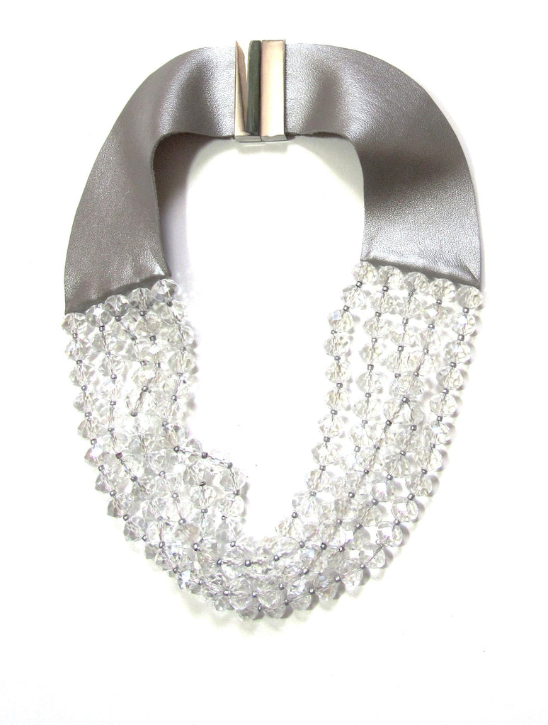 Lindero Necklace - Clear Crystals