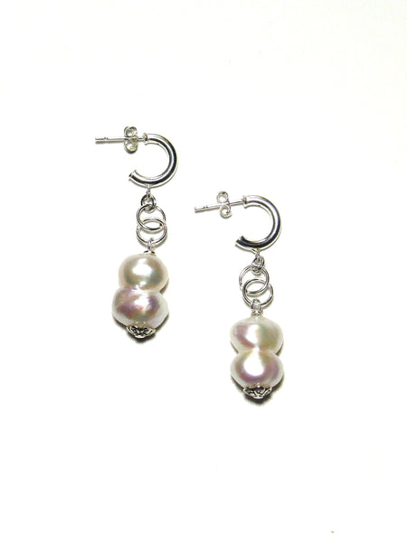 Joy Earrings - White Pearls