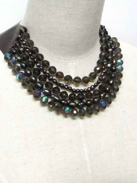 Lindero Necklace - Chocolate Mix