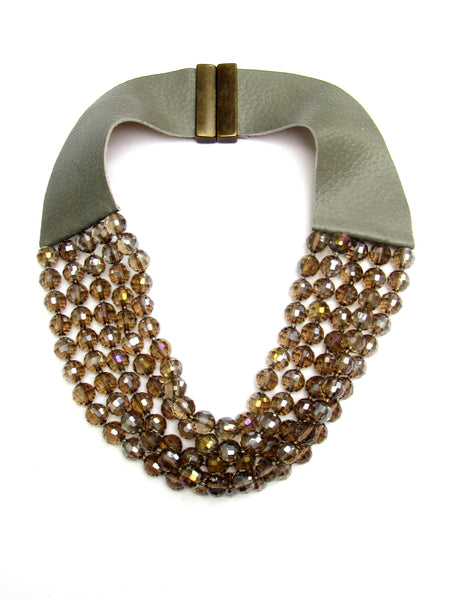Lindero Necklace - Golden Grey