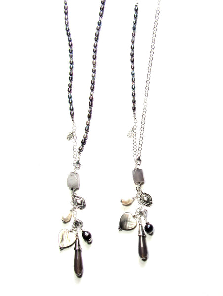 In The Mix Necklace - Grey