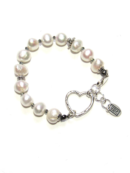 True Heart Bracelet - Pearls