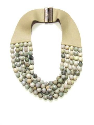 Lindero Necklace - Moss Marble