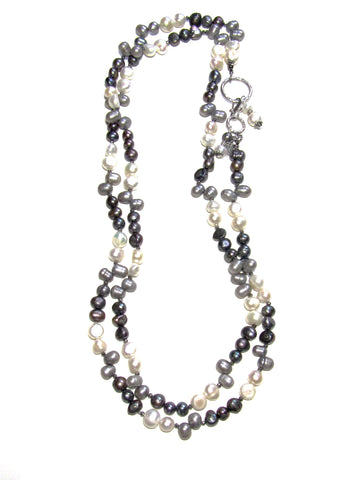 Shades of Grey Necklace, 52 Inches