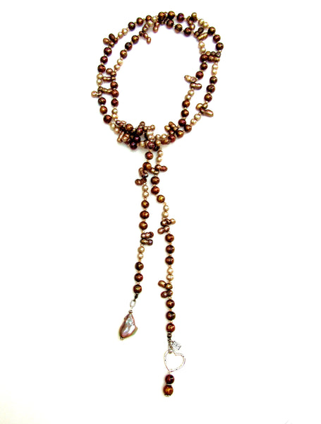 Copper Tones Lariat Necklace