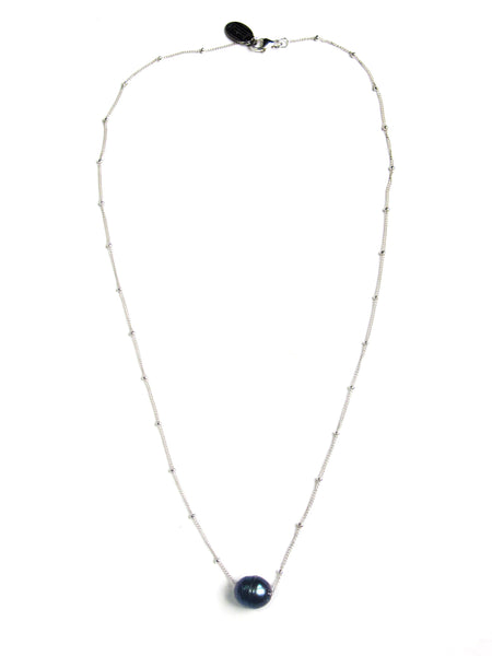 Keepsake Necklace - Grey Pearl