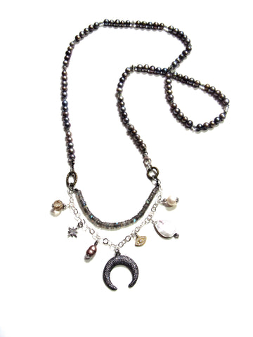 Guiding Spirit Necklace - Pearls