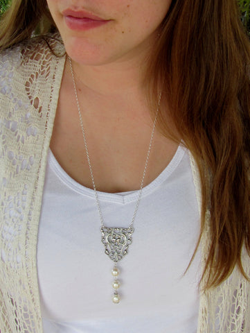 Avalon 3 Pearl Necklace, 2 Colors