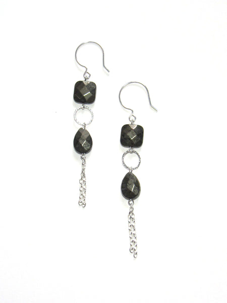 Ventura Earrings - Pyrite