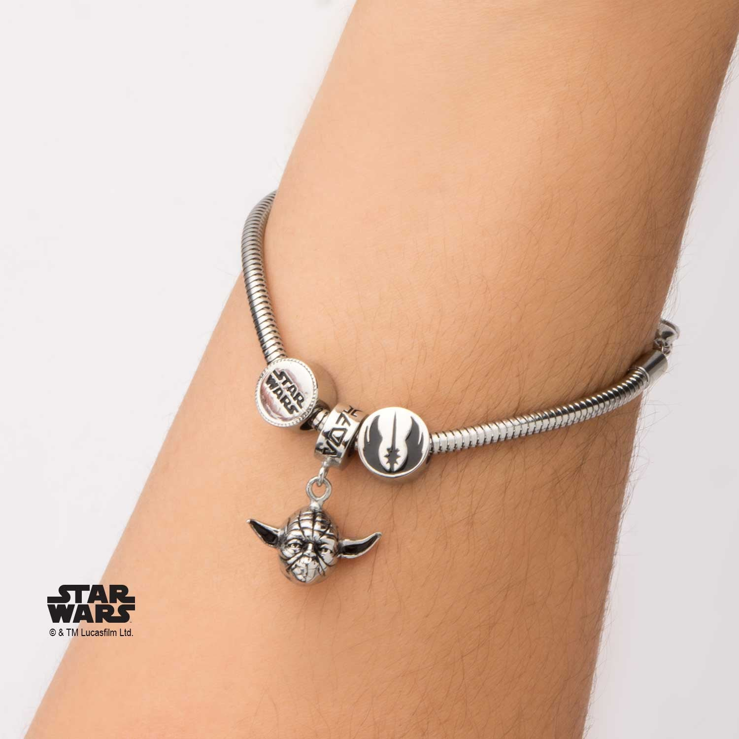 bangle bracelets charm bangles star bracelet trustmark yoda logo bead set stainless wars steel products