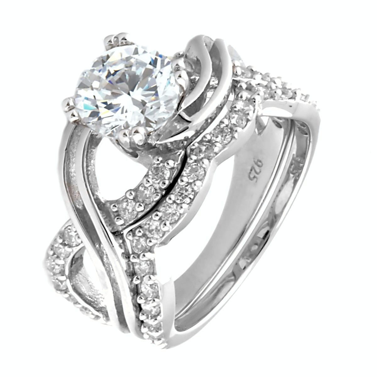 Kellie 292ct Russian Ice Diamond CZ Infinity Symbol Wedding Ring