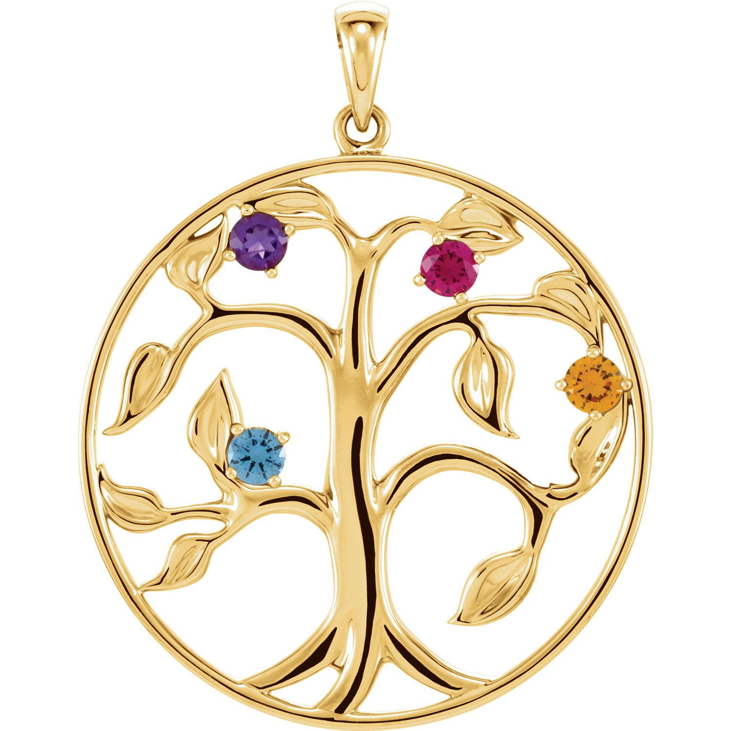 jewelry silver of birthstone life sterling tree pendant limoges family
