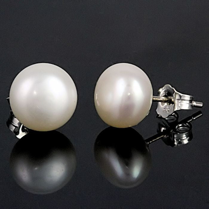 e32c3a094 ... Alida: 6mm Natural White Freshwater Pearl Stud Earrings 925 Silver -  Trustmark Jewelers - Earrings ...