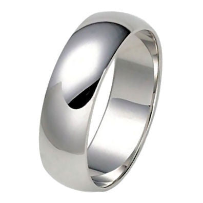 Trustmark Silver 6mm Classic Domed Unisex His n Hers Wedding Band Ring Dragana 3126B