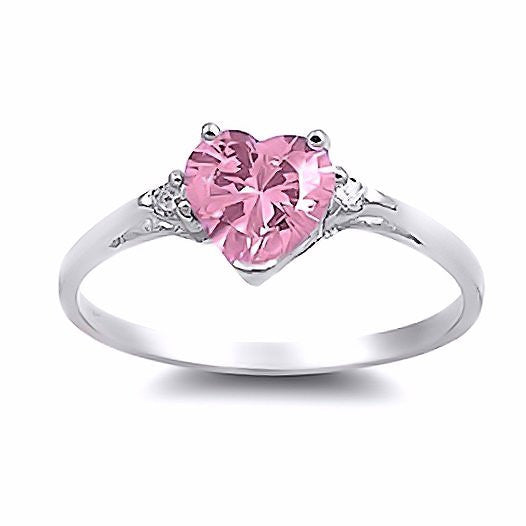 ring pink v sterling sapphire silver in diamond heart rings lab characters created labcreated p promise and accent