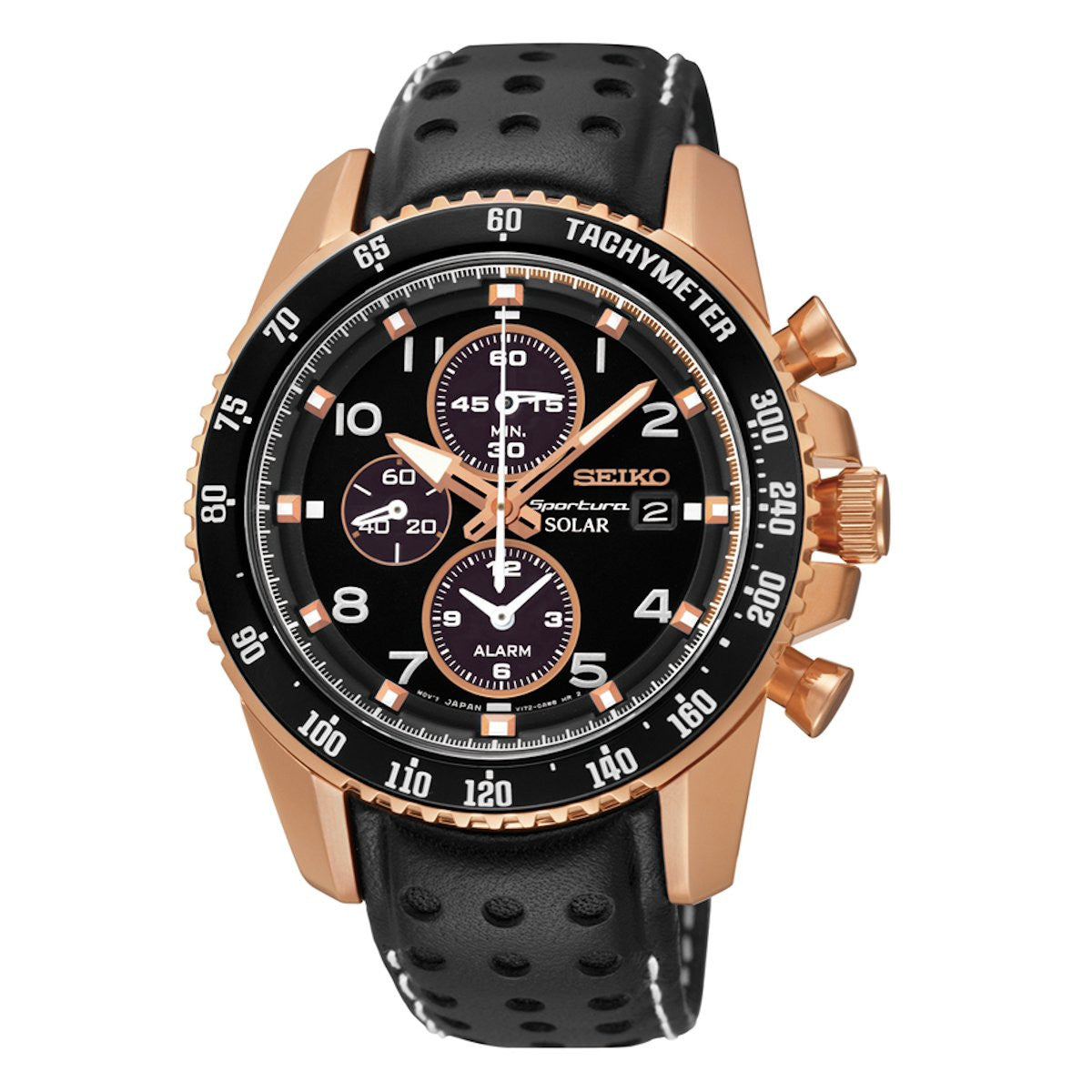 seiko men s 45mm chronograph rose gold tone wrist watch stainless seiko men s 45mm chronograph rose gold tone wrist watch stainless steel ssc274 trustmark