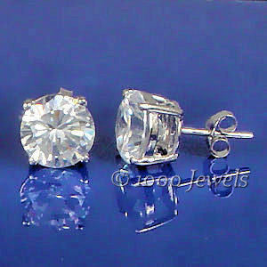 c7571a56f ... Jayden: 8.0mm, 4.0ct Brilliant Cut Simulated Diamond CZ Stud Earrings -  Trustmark ...