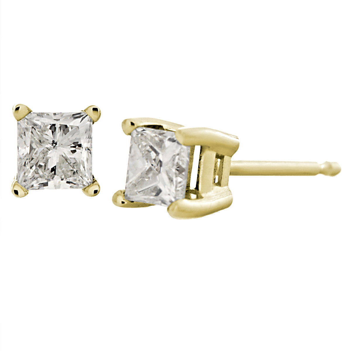 stud knot gold com love earrings polished product qvc page