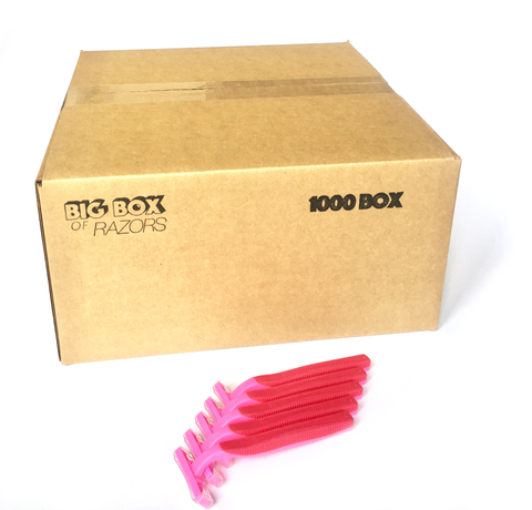 1,000 Box of Pink Razors