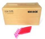 100 Box of Pink Razors
