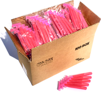 100 Premium Quality Pink Disposable Razors
