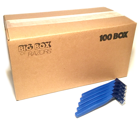 100 Box of Blue Razors