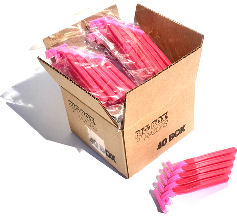 40 Box of Pink Razors