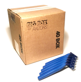40 Box of Blue Razors - Big Box of Razors - High Quality Bulk Disposable Razor Blades