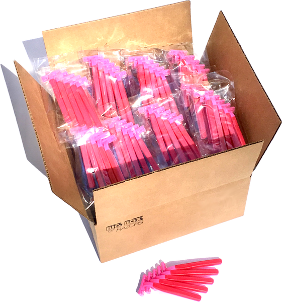 500 Premium Quality Pink Disposable Razors