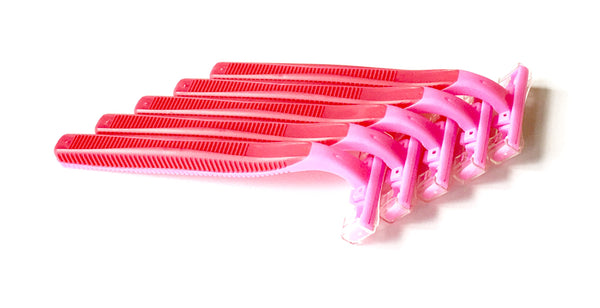 500 Box of Pink Razors - Big Box of Razors - High Quality Bulk Disposable Razor Blades