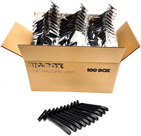 100 Low-Cost Black Disposable Razors