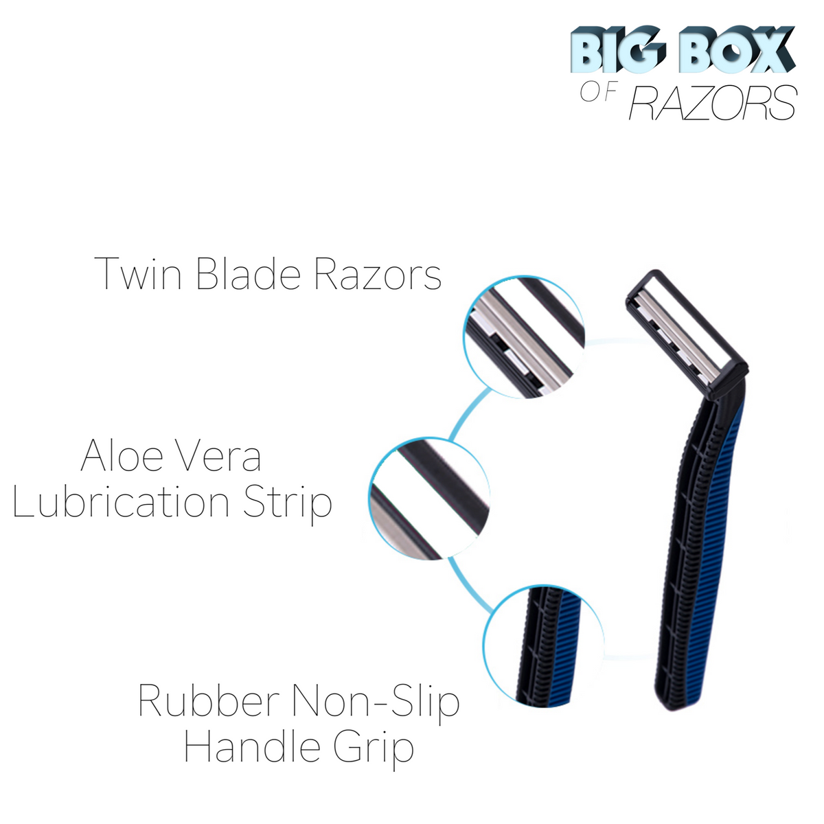 500 High Quality Blue Disposable Razors