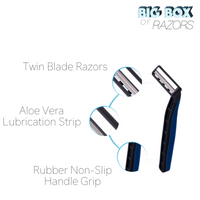 500 Premium Quality Blue Disposable Razors