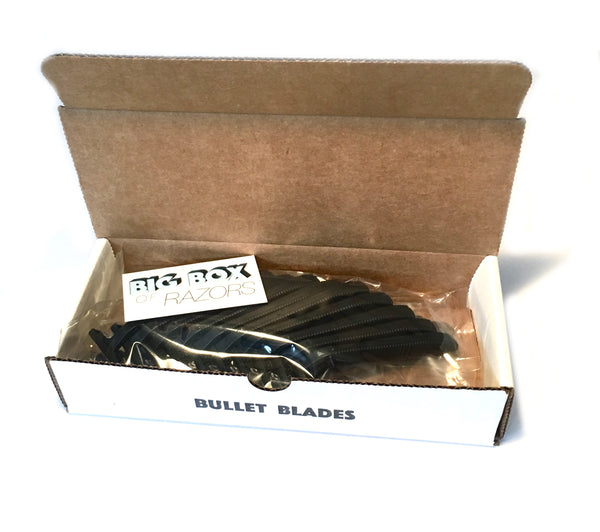 Bullet Blades - Black Razors - Big Box of Razors - High Quality Bulk Disposable Razor Blades