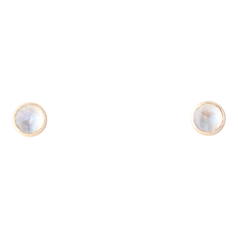 gold and moonstone stud