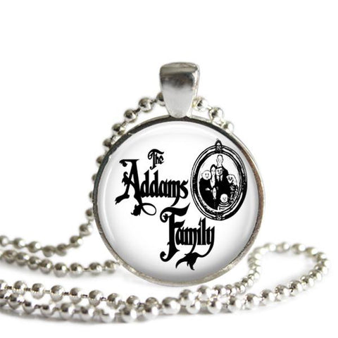 The Addams Family Musical Silver Plated Necklace or Keychain