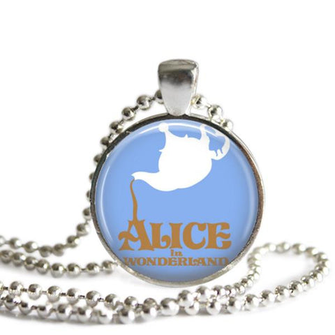 Alice In Wonderland jewelry Teapot Necklace