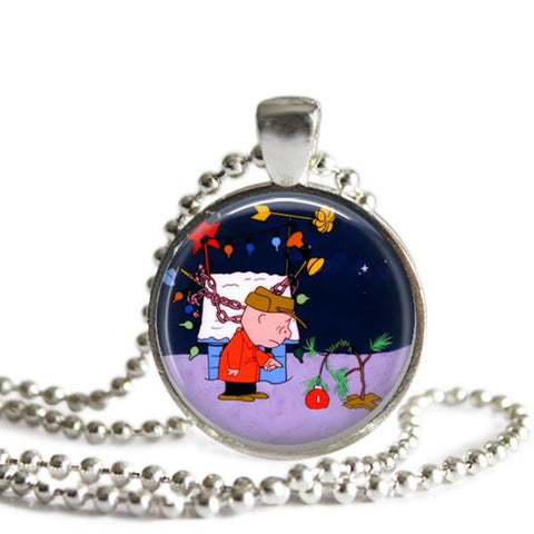 Charlie Brown Christmas Tree necklace