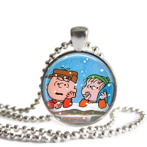 Charlie Brown and Linus necklace