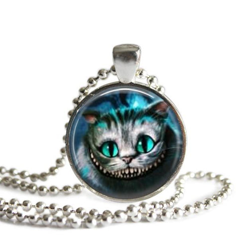 Alice In Wonderland jewelry Cheshire Cat Necklace