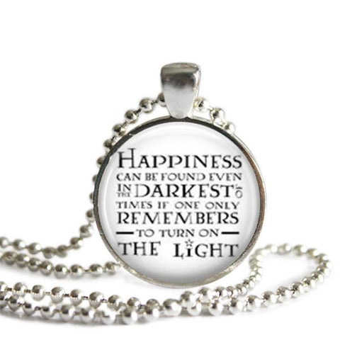 Dumbledore quote necklace