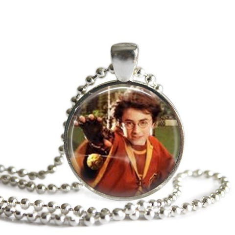 Harry Potter and the golden Snitch necklace