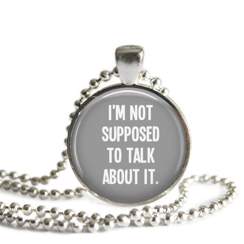 Cas Castiel quote necklace Supernatural jewelry