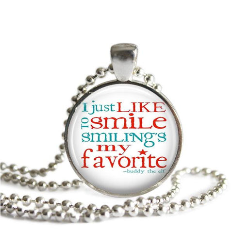 I Just Like to Smile. Smiling's My Favorite necklace
