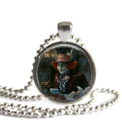 Alice In Wonderland jewelry Mad hatter necklace