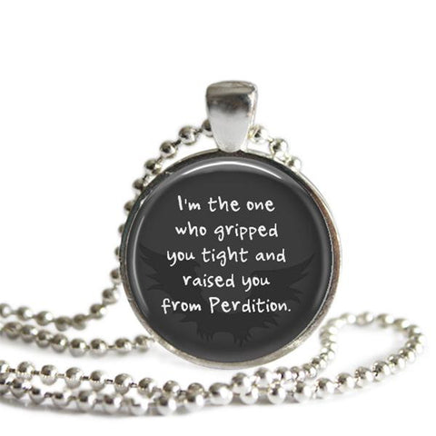 Cas Castiel quote necklace Supernatural jewelry Misha Collins