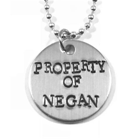 Property of Negan Necklace