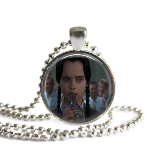 Wednesday Addams Picture Pendant Necklace
