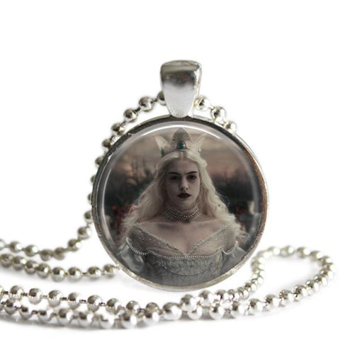 Alice In Wonderland jewelry White Queen Necklace