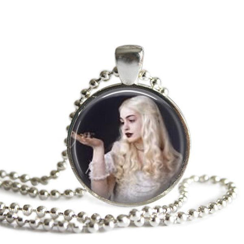white queen necklace alice in wonderland jewelry